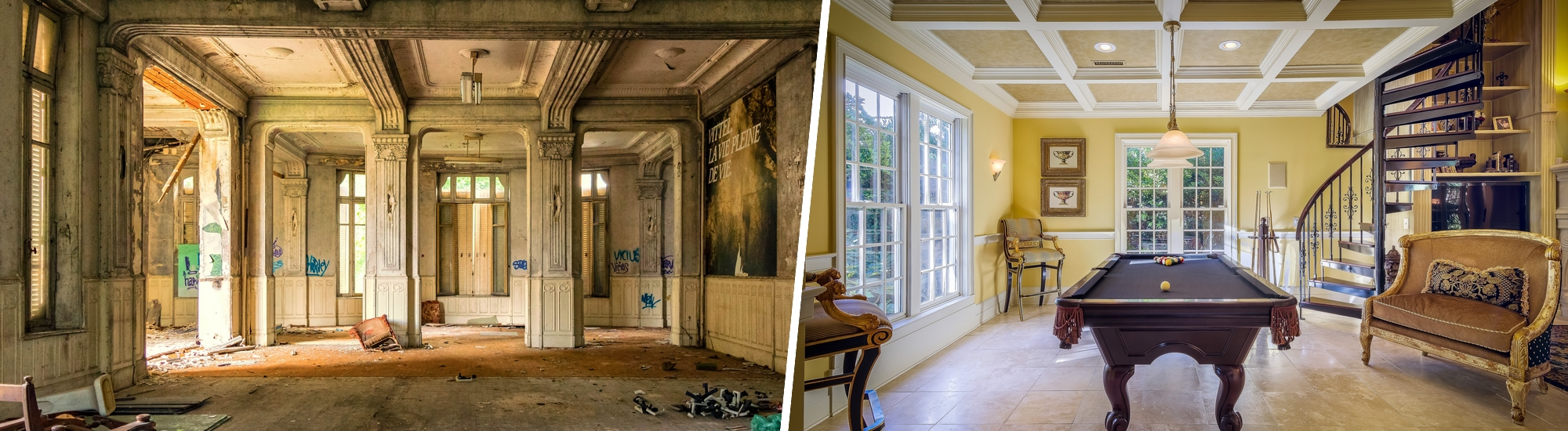 Restoration of an old house to its former glory